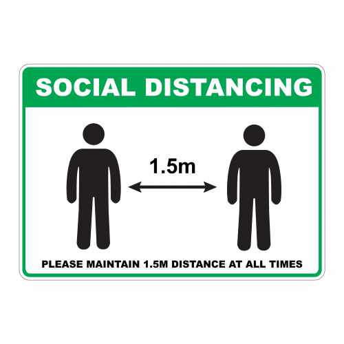 Buy Online Social Distancing Sign (SD1) From Leading